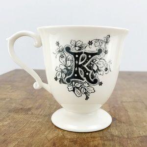Anthropologie Missus Initial Mug Letter K